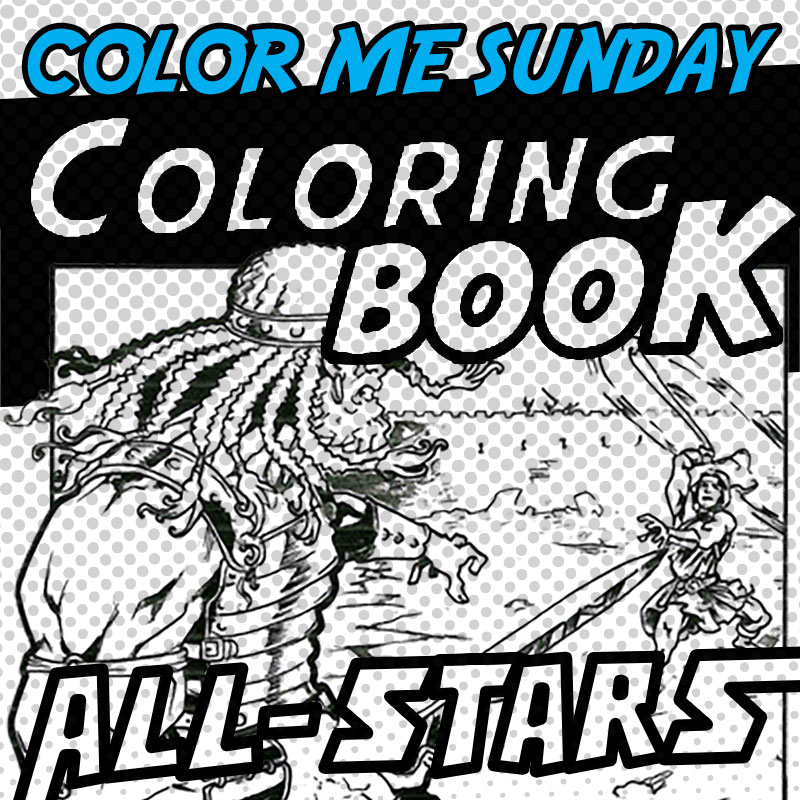 Color Me Sunday - Coloring Book All-Stars